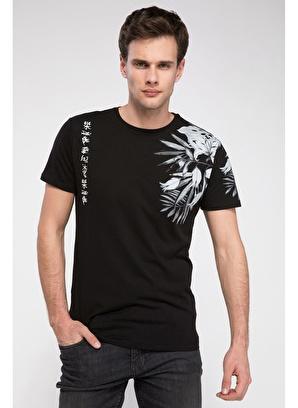 DeFacto Slim Fit Desenli T-shirt